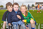 TJ Browne, Michael Collins and Lenora Kelly enjoying the Scor na nOg fun day in Brosna last Sunday.