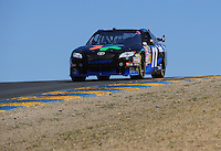Jun. 21, 2009; Sonoma, CA, USA; NASCAR Sprint Cup Series driver Denny Hamlin during the SaveMart 350 at Infineon Raceway. Mandatory Credit: Mark J. Rebilas-