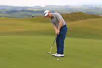 Geoff Lenehan (Portmarnock) on the 16th green during Round 2 of the North of Ireland Amateur Open Championship 2019 at Portstewart Golf Club, Portstewart, Co. Antrim on Tuesday 9th July 2019.<br /> Picture:  Thos Caffrey / Golffile<br /> <br /> All photos usage must carry mandatory copyright credit (© Golffile | Thos Caffrey)