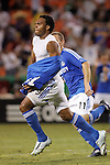 Aug 22 2007:  Scott Sealy (19) strips off his jersey after scoring a goal, and received a yellow card for doing so.  The MLS Kansas City Wizards defeated the visiting Chicago Fire 3-2 at Arrowhead Stadium in Kansas City, Missouri, in a regular season league soccer match.