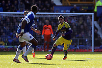 Pictured: Pablo Hernandez of Swansea (R). Sunday 16 February 2014<br /> Re: FA Cup, Everton v Swansea City FC at Goodison Park, Liverpool, UK.