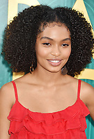 HOLLYWOOD, CA - AUGUST 07:  Yara Shahidi arrives at the Warner Bros. Pictures' 'Crazy Rich Asians' premiere at the TCL Chinese Theatre IMAX on August 7, 2018 in Hollywood, California.<br /> CAP/ROT/TM<br /> &copy;TM/ROT/Capital Pictures