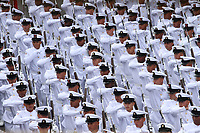 BOGOTÁ - COLOMBIA, 20-07-2019:Armada Nacional.Desfile Militar por la Avenida 68 de la capital , durante el 209 Aniversario del Día de la Independiencia Nacional ./Military Parade through Avenida 68 in the capital, during the 209th Anniversary of National Independence Day. Photo: VizzorImage / Felipe Caicedo / Satff