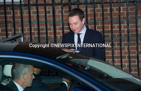 22.07.2013; LONDON : ROYAL BABY <br /> Ed Perkins, the Press Secretary delivers the birth announcement to the driver to be carried to Buckingham Palace, Lindo Wing, St. Mary's Hospital, Paddington,London<br /> Mandatory Credit Photo: &copy;Francis Dias/NEWSPIX INTERNATIONAL<br /> <br /> **ALL FEES PAYABLE TO: &quot;NEWSPIX INTERNATIONAL&quot;**<br /> <br /> IMMEDIATE CONFIRMATION OF USAGE REQUIRED:<br /> Newspix International, 31 Chinnery Hill, Bishop's Stortford, ENGLAND CM23 3PS<br /> Tel:+441279 324672  ; Fax: +441279656877<br /> Mobile:  07775681153<br /> e-mail: info@newspixinternational.co.uk