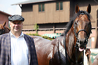 13th June 2020, Dresden, Saxony, Germany, State horse racing;  Namwith Lord Mayor Dirk Hilbert after the victory in the Grand Prix of the state capital Dresden