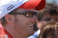 Apr 28, 2007; Talladega, AL, USA; Nascar Nextel Cup Series driver Dale Earnhardt Jr (8) during qualifying for the Aarons 499 at Talladega Superspeedway. Mandatory Credit: Mark J. Rebilas