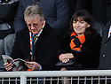 TV Presenter Lorraine Kelly takes her seat in the stand to watch her beloved Dundee Utd take on Aberdeen at Tannadice  ...