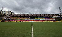General view of Vicarage Road Stadium, Vicarage Road, Watford. England on 02 March 2014. Photo by Andy Rowland.