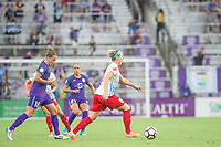 Orlando, FL - Saturday July 01, 2017: Maddy Evans, Julie Ertz during a regular season National Women's Soccer League (NWSL) match between the Orlando Pride and the Chicago Red Stars at Orlando City Stadium.