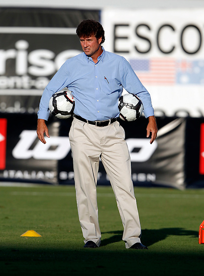 May 27, 2010; TAMPA, FLORIDA: The FC Tampa Bay Rowdies Technical Director Perry Van Der Beck during a 3-1 victory over the Minnesota Stars at Steinbrenner Field in Tampa, Florida. Photo by Matt May/FC Tampa Bay Rowdies