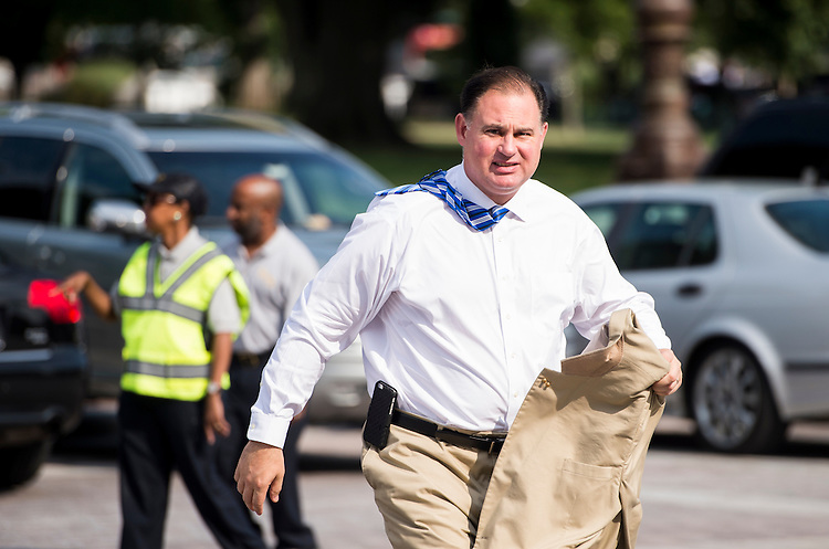 UNITED STATES - JULY 29: Rep. Frank Guinta, R-N.H., arrives at the Capitol for the final votes before the August recess on Wednesday, July 29, 2015. (Photo By Bill Clark/CQ Roll Call)