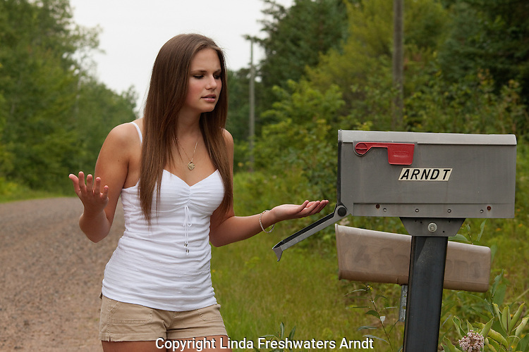 Teen waiting for mail