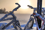 frosty bikes on the dock in Old Town