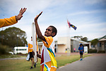 Batonbearer Korelle Wintinna carrying the Baton out of Kingscote Area School as the Queen's Baton Relay visited Kingscote, Kangaroo Island. From 25 January to 2 March 2018, the Queen's Baton will visit every other state and territory before Queensland. As the Queen's Baton Relay travels the length and breadth of Australia, it will not just pass through, but spend quality time in each community it visits, calling into hundreds of local schools and community celebrations in every state and territory. The Gold Coast 2018 Commonwealth Games (GC2018) Queen's Baton Relay is the longest and most accessible in history, travelling through the Commonwealth for 388 days and 230,000 kilometres. After spending 100 days being carried by approximately 3,800 batonbearers in Australia, the Queen's Baton journey will finish at the GC2018 Opening Ceremony on the Gold Coast on 4 April 2018.
