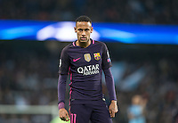 Neymar of Barcelona during the UEFA Champions League match between Manchester City and Barcelona at the Etihad Stadium, Manchester, England on 1 November 2016. Photo by Andy Rowland / PRiME Media Images.