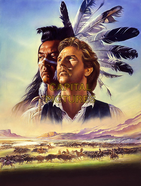 Dances with Wolves (1990) <br /> Promotional art with Kevin Costner &amp; Graham Greene<br /> *Filmstill - Editorial Use Only*<br /> CAP/KFS<br /> Image supplied by Capital Pictures