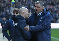 Blackburn Rovers manager Tony Mowbray and Preston North End manager Alex Neil<br /> <br /> Photographer Rachel Holborn/CameraSport<br /> <br /> The EFL Sky Bet Championship - Preston North End v Blackburn Rovers - Saturday 24th November 2018 - Deepdale Stadium - Preston<br /> <br /> World Copyright © 2018 CameraSport. All rights reserved. 43 Linden Ave. Countesthorpe. Leicester. England. LE8 5PG - Tel: +44 (0) 116 277 4147 - admin@camerasport.com - www.camerasport.com