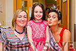 Fiona O'Connor and Linda O'Connor pictured with the Rose of Tralee Maria Walsh at the Palliative Care Unit, Kerry General Hospital on Friday morning.