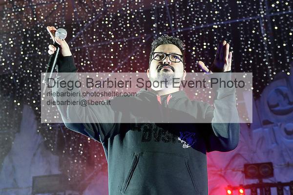 (KIKA) - TORINO - 04/01/2013 Concerto dei ragazzi di X-Factor 2012 sesta edizione, a Gru Village di Grugliasco, Torino.<br /> <br /> Ics, Alessandro Grimaldini