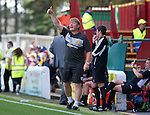 Motherwell v St Johnstone...11.08.12.Thumbs up for Stuart McCall.Picture by Graeme Hart..Copyright Perthshire Picture Agency.Tel: 01738 623350  Mobile: 07990 594431