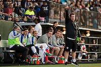 Seattle, Washington - Saturday, July 2nd, 2016: Boston Breakers head coach Matt Beard directs his team during a regular season National Women's Soccer League (NWSL) match between the Seattle Reign FC and the Boston Breakers at Memorial Stadium. Seattle won 2-0.