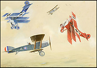 Biggles creators WW1 watercolours.