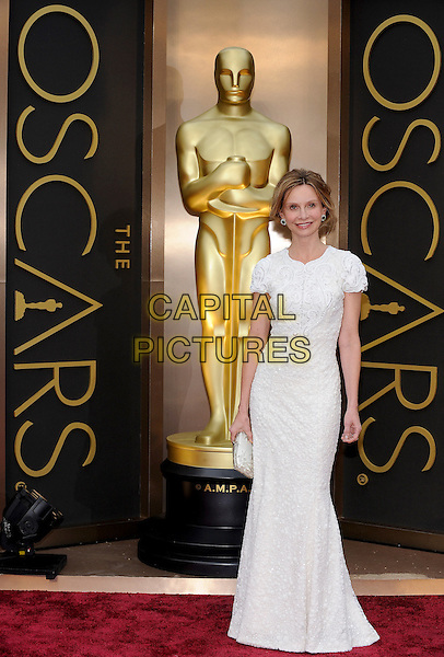 HOLLYWOOD, CA - MARCH 2: Calista Flockhart arriving to the 2014 Oscars at the Hollywood and Highland Center in Hollywood, California. March 2, 2014. <br /> CAP/MPI/COR<br /> &copy;Corredor99/ MediaPunch/Capital Pictures