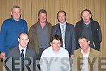 MEETING: The County IFA held a meeting inn the Manor West Hotel, Tralee on Monday night in conjuction with FBD on safety on the farm. Front l-r: Ciara?n Rloche (FBD), Jamesw McCarthy (county Chairman IFA) and Ken Jones (County IFA Secretary). Back l-r: Ted McCarthy (Spa), Tommy Moynihan and Michael Kerins (Tralee) and Frank Blackwell (County Grain Chairman)Ardfert................................... ....