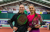 Wateringen, The Netherlands, December 1,  2019, De Rhijenhof , NOJK 12 and16 years, Final girls 16 years: Anouk Koevermans (NED) (L) and Florentine Dekkers (NED)<br /> Photo: www.tennisimages.com/Henk Koster