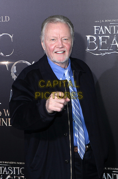 NEW YORK, NY - NOVEMBER 10: Jon Voight at the World Premiere of Fantastic Beasts and Where to Find Them at Alice Tully Hall on November 10, 2016 in New York City.   <br /> CAP/MPI/DIE<br /> &copy;DIE/MPI/Capital Pictures