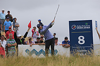 Nicolas Colsaerts (BEL) tees off the 8th tee during Saturday's Round 3 of the 2018 Dubai Duty Free Irish Open, held at Ballyliffin Golf Club, Ireland. 7th July 2018.<br /> Picture: Eoin Clarke | Golffile<br /> <br /> <br /> All photos usage must carry mandatory copyright credit (&copy; Golffile | Eoin Clarke)