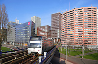 Rotterdam- De Metro bij Rijnhaven