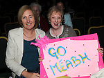 Betty Sweetman and sally Price cheering on Betty's daughter Meabh Sweetman in the Louth heat of the Rose of Tralee 2012. Photo: Colin Bell/pressphotos.ie