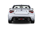 Straight rear view of 2018 Subaru BRZ Limited 2 Door Coupe Rear View  stock images