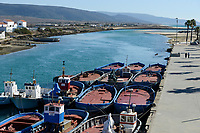 SPAIN, Andalusia, Barbate, fishing boats for Tuna fishing Almadraba