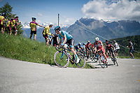 (eventual stage winner) Pello Bilbao (ESP/Astana) leading the group of favorites up the Cima Campo climb<br /> <br /> Stage 20: Feltre to Croce D'Aune-Monte Avena (194km)<br /> 102nd Giro d'Italia 2019<br /> <br /> ©kramon