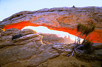 Mesa Arch at Sunrise in Canyonlands National Park. Utah, Canyonlands National Park.