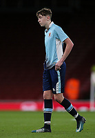 Blackpool U18's Nathan Shaw<br /> <br /> Photographer Andrew Kearns/CameraSport<br /> <br /> Emirates FA Youth Cup Semi- Final Second Leg - Arsenal U18 v Blackpool U18 - Monday 16th April 2018 - Emirates Stadium - London<br />  <br /> World Copyright &copy; 2018 CameraSport. All rights reserved. 43 Linden Ave. Countesthorpe. Leicester. England. LE8 5PG - Tel: +44 (0) 116 277 4147 - admin@camerasport.com - www.camerasport.com