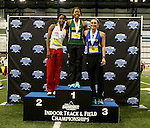 BROOKINGS, SD - FEBRUARY 24:  Rose Jackson from North Dakota State University poses after winning the women's pentathlon Friday afternoon at the Summit League Indoor Championships in Brookings, SD. (Photo by Dave Eggen/Inertia)