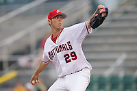 Starting pitcher Bradley Meyers #29 of the Potomac Nationals in action versus the Winston-Salem Dash at Pfitzner Stadium June 10, 2009 in Woodbridge, Virginia. (Photo by Brian Westerholt / Four Seam Images)