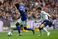 Bruno Ecuele Manga of Cardiff City and Son Heung-Min of Tottenham Hotspur during Tottenham Hotspur vs Cardiff City, Premier League Football at Wembley Stadium on 6th October 2018