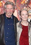 Musician Roger Waters & actress Kathleen Chalfant after a performance in 'The Exonerated' at the Culture Project in New York City. November 27, 2012.