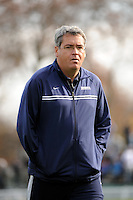 Monmouth Hawks head coach Robert McCourt. Dartmouth defeated Monmouth 4-0 during the first round of the 2010 NCAA Division 1 Men's Soccer Championship on the Great Lawn of Monmouth University in West Long Branch, NJ, on November 18, 2010.