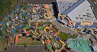Aerial view of Family Fun Center in Renton, WA