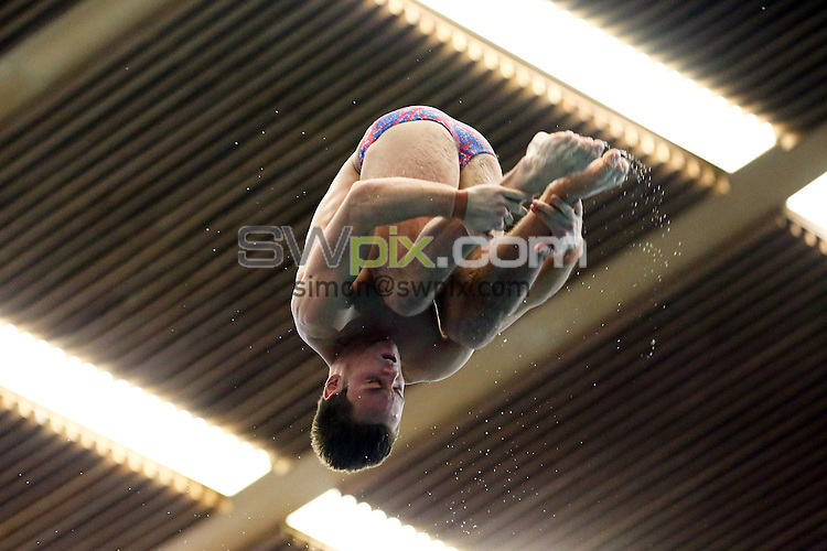 PICTURE BY ALEX WHITEHEAD/SWPIX.COM - Diving - FINA/Midea Diving World Series 2013 - Royal Commonwealth Pool, Edinburgh, Scotland - 21/04/13 - Great Britain's Tom Daley competes in the Men's 10m platform preliminaries.