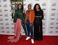 """14 November 2019 - Hollywood, California - Melina Matsoukas, Lena Waithe and Shiona L. Turini. AFI FEST 2019 Presented By Audi – """"Queen & Slim"""" Premiere held at TCL Chinese Theatre. Photo Credit: Billy Bennight/AdMedia"""