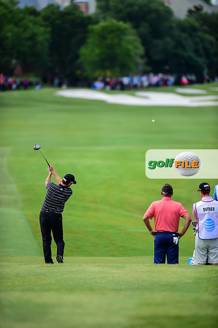 Jimmy Walker (USA) tees off on 3 during the round 1 of  the AT&amp;T Byron Nelson, TPC Four Seasons, Irving, Texas, USA. 5/19/2016.<br /> Picture: Golffile | Ken Murray<br /> <br /> <br /> All photo usage must carry mandatory copyright credit (&copy; Golffile | Ken Murray)