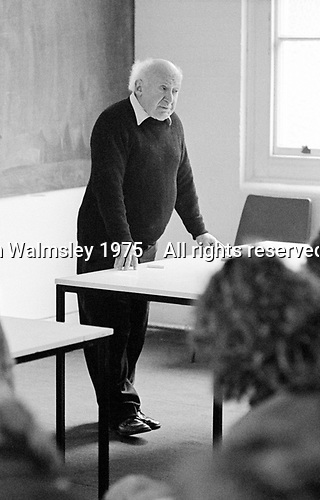#77217  Walter Segal, architect, at the Architectural Association School of Architecture, London.  1975.