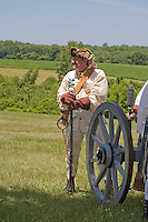 Continental Army reenactor, Revolutionary War, Monmouth Battlefield State Park, New Jersey