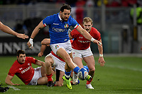 Michele Campagnaro Italy.<br />  <br /> Roma 9-02-2019 Stadio Olimpico<br /> Rugby Six Nations tournament 2019  <br /> Italy - Wales <br /> Foto Antonietta Baldassarre / Insidefoto